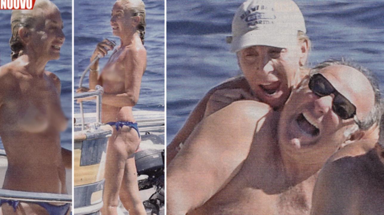 Ambra Angiolini Topless post di news notizie